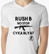 Rush B No Stop - CSGO Men's V-Neck T-Shirt
