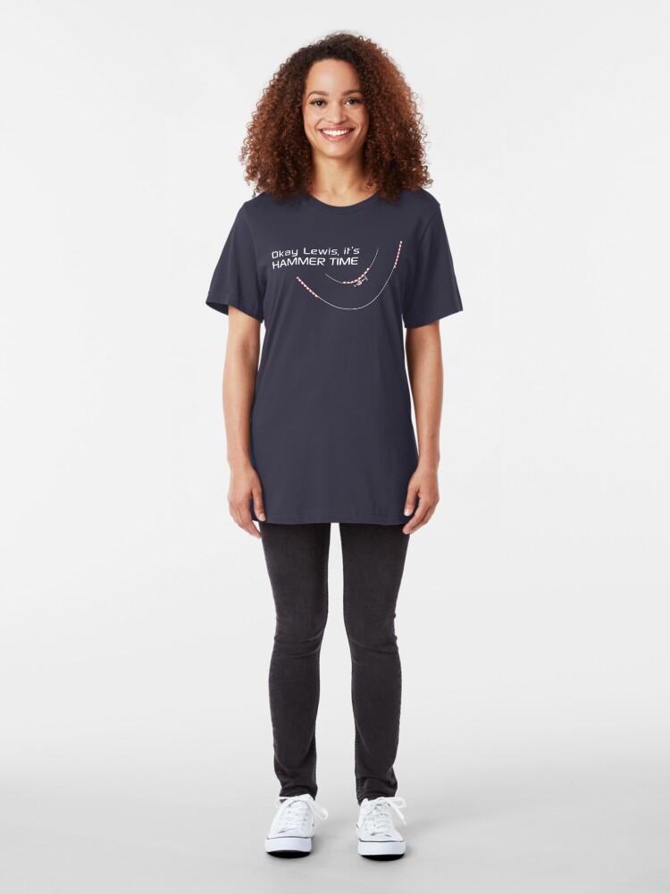 Alternate view of Okay Lewis, it's hammer time - Version 2 Slim Fit T-Shirt
