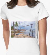 Boatyard at Cajaiba, Bahia, Brazil Women's Fitted T-Shirt