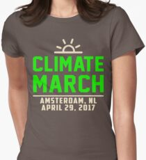 People's Climate March Amsterdam, NL 2017 Tee Shirt  Womens Fitted T-Shirt