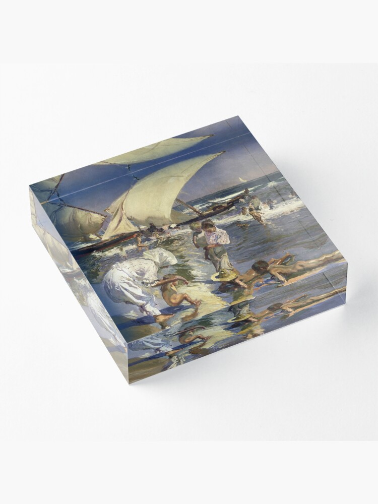 Alternate view of Joaquin Sorolla Y Bastida - Beach Of Valencia By Morning Light Acrylic Block