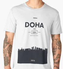 Poster city skyline Doha Men's Premium T-Shirt