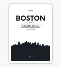 Poster city skyline Boston Sticker