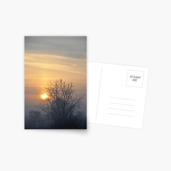 Winter morn. Postcard