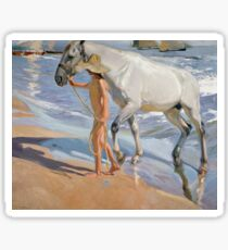Joaquin Sorolla Y Bastida - The Horse s Bath1909 Sticker