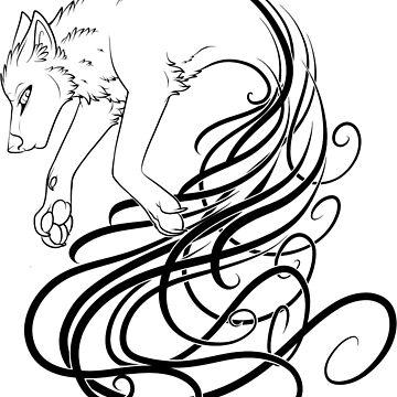 Wolf Tribal by Cynn-Lokai