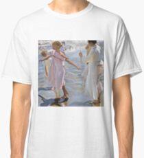 Joaquin Sorolla Y Bastida - Time For A Bathe, Valencia1909 Classic T-Shirt