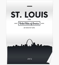 Poster city skyline St Louis Poster