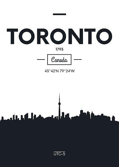 Poster city skyline Toronto by maximgertsen