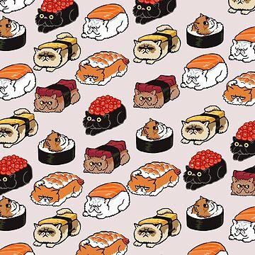 Gato Persa Sushi de Huebucket