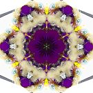 Purple and cream floral fractal by Beth Brightman