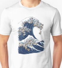 The Great Wave of Cat Unisex T-Shirt