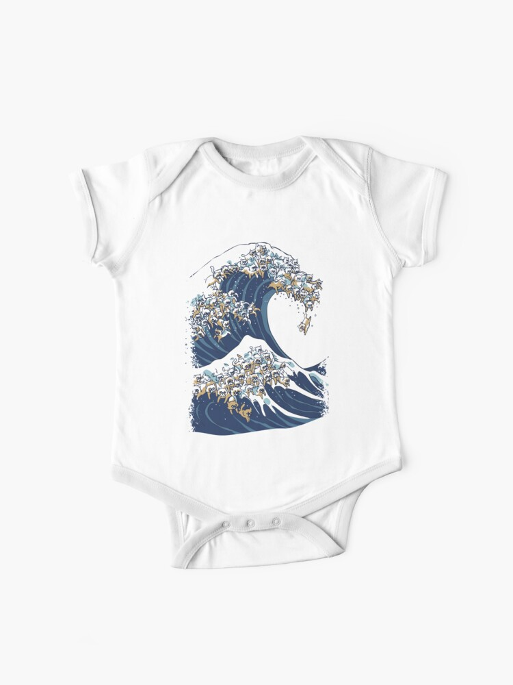 The Great Wave Off Whale Cotton Short Sleeve T Shirts for Baby Toddler Infant