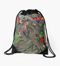 Birds from Paradise. Rosellas Drawstring Bag