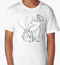 Old Sea Dog Smokes a Pipe Long T-Shirt