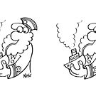 Old Sea Dog Smokes a Pipe by Nigel Sutherland