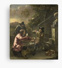 Johannes Natus - The Card Players Canvas Print