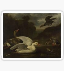 Johannes Spruyt - Geese And Ducks Sticker