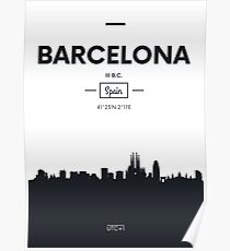 Poster city skyline Barcelona Poster