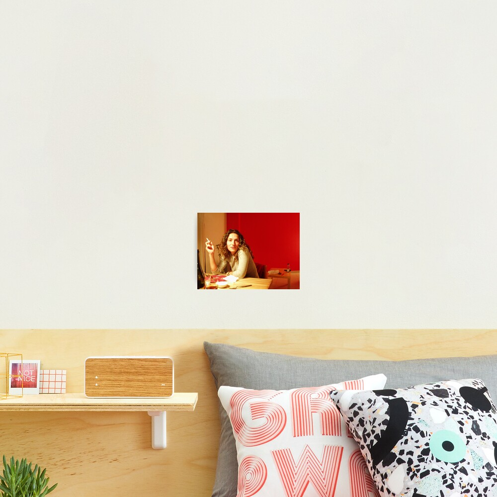 Red Flat Photographic Print