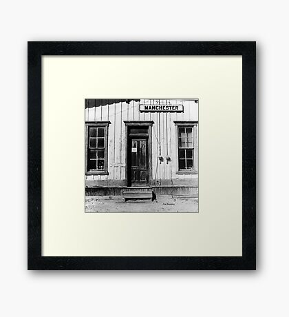 Railroad Depot Manchester Tennessee Framed Print