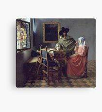Johannes Vermeer - The Glass Of Wine Canvas Print