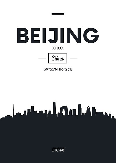 Poster city skyline Beijing by maximgertsen