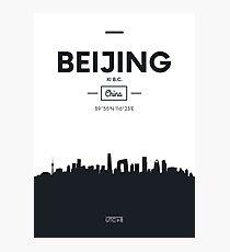 Poster city skyline Beijing Photographic Print