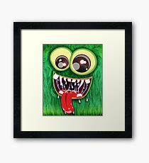 The Furry Green Monster Framed Print