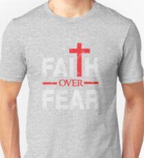 Faith over Fear - Big Cross - Christian  Unisex T-Shirt