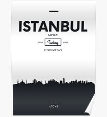 Poster city skyline Istanbul Poster