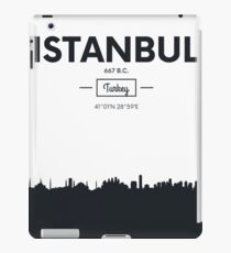 Poster city skyline Istanbul iPad Case/Skin