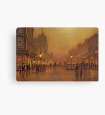 John Atkinson Grimshaw - A Street At Night Canvas Print