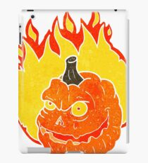 retro cartoon spooky pumpkin iPad Case/Skin