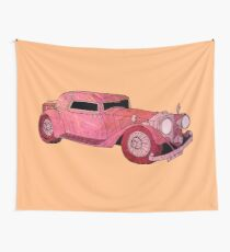 Red Vintage Car Wall Tapestry