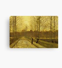 John Atkinson Grimshaw - In The Golden Gloaming Canvas Print