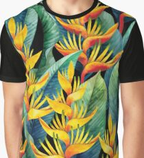 Watercolor heliconia Graphic T-Shirt