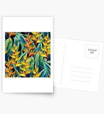 Watercolor heliconia Postcards