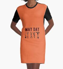 May Day  Graphic T-Shirt Dress