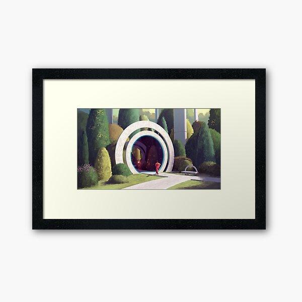 Times Garden Framed Art Print