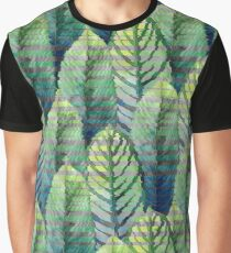 Watercolor heliconia with glitch effect Graphic T-Shirt
