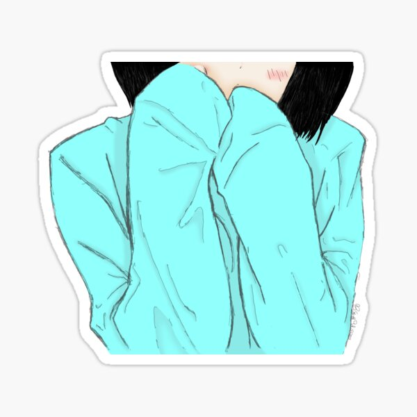 Shy Girl Sticker