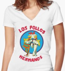 Los Pollos Hermanos Women's Fitted V-Neck T-Shirt