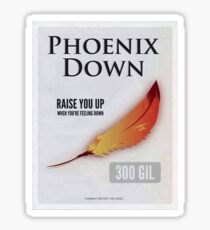 Final Fantasy Phoenix Down, only 300 Gil Sticker