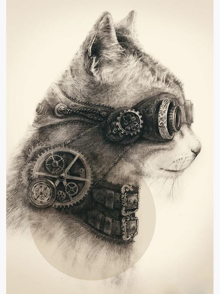 Steampunk cat by Kla357