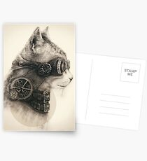 Steampunk cat Postcards