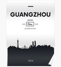 Poster city skyline Guangzhou Poster