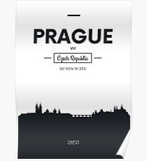 Poster city skyline Prague Poster