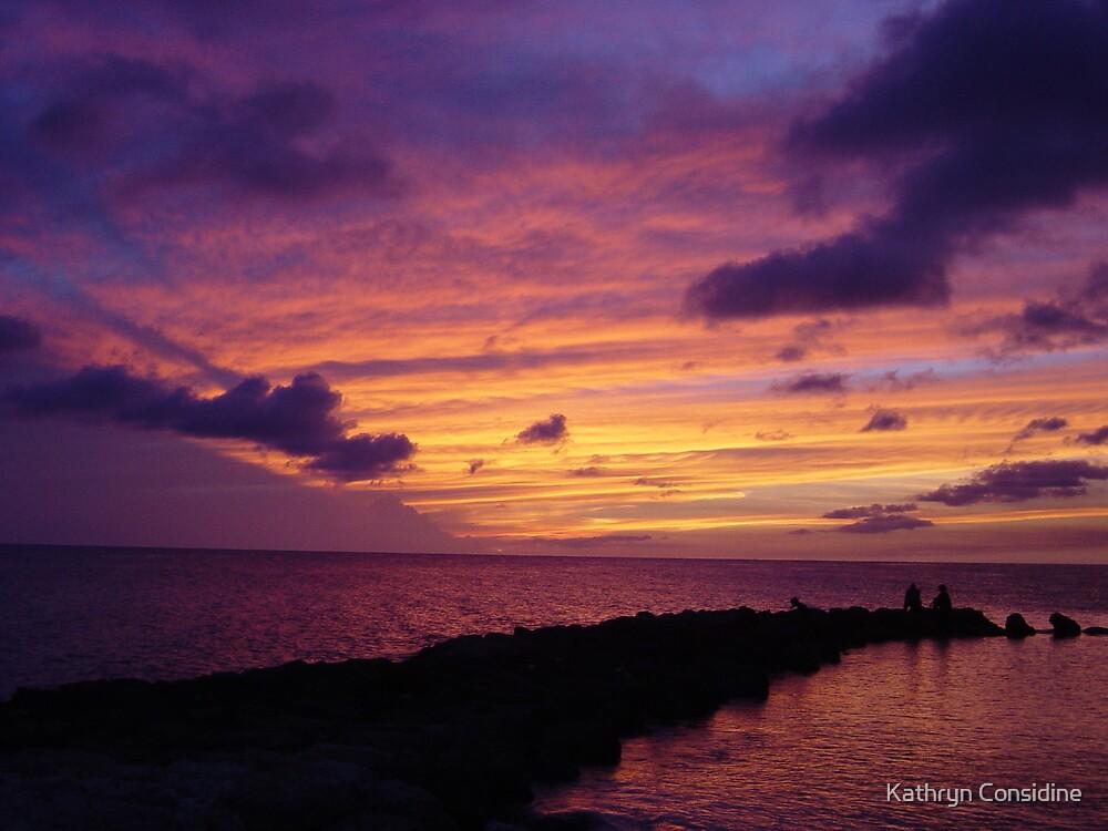 Sunset on a Curasao Beach by Kathryn Considine