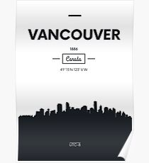 Poster city skyline Vancouver Poster